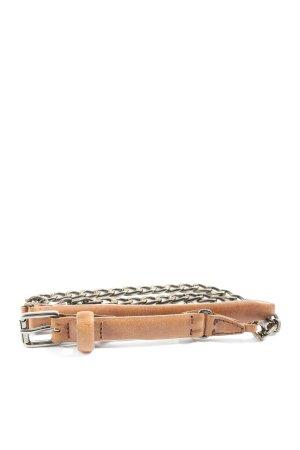 MARCCAIN Pasek materiałowy brązowy W stylu casual