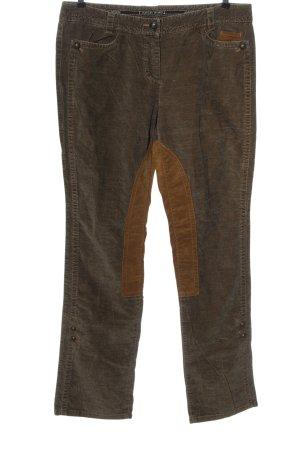 MARCCAIN Pantalón de pana marrón look casual