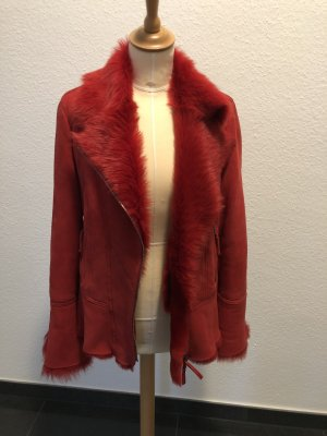 Marc Cain Fur Jacket red