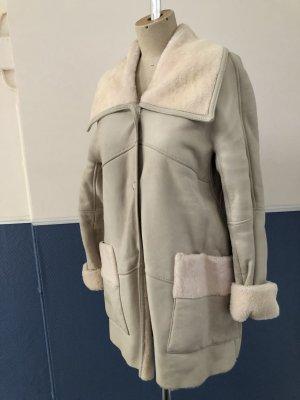 MARCCAIN Manteau de fourrure blanc-gris clair fourrure