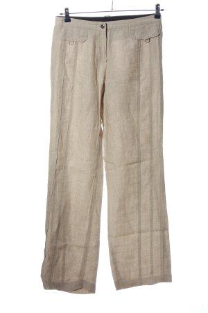 MARCCAIN Pantalón de lino blanco puro look casual