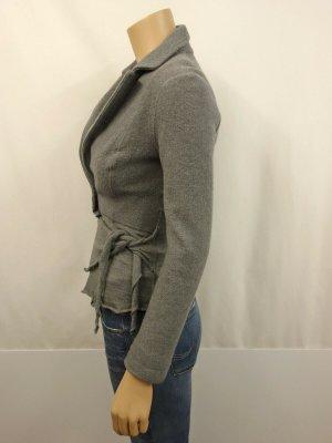 MARCCAIN MARC CAIN Jacke mit Schößchen Gr.N 5/ 42  Blazer Jacket Wolle Grau