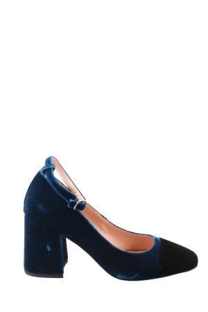 MARCCAIN Décolleté Mary Jane blu-nero elegante
