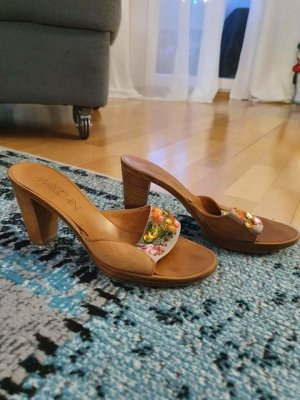 MARCCAIN High-Heeled Toe-Post Sandals multicolored