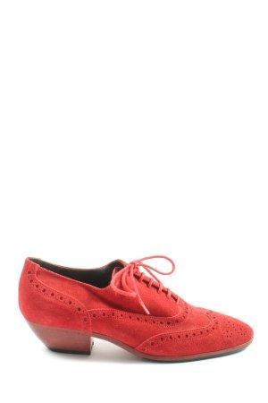 MARCCAIN Zapatos brogue rojo look casual