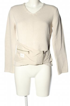 marccain sport Sweter z grubej dzianiny w kolorze białej wełny W stylu casual
