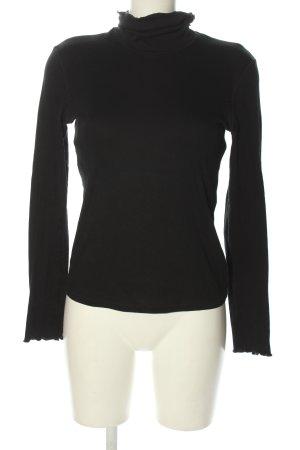 marccain sport Koszulka z golfem czarny Wydrukowane logo W stylu casual