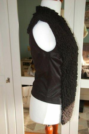 MARCCAIN Fur vest black cotton