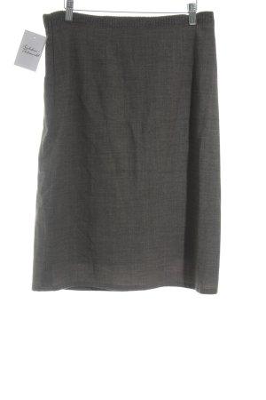 Marc Cain Jupe tricotée gris foncé-marron clair style mode des rues
