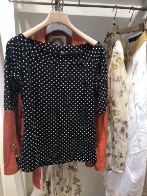 MARCCAIN Koszula typu carmen czarny-biały
