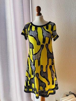 MARCCAIN Tunika Kleid African Remix Giraffe gelb N2 NP 299 € NEU