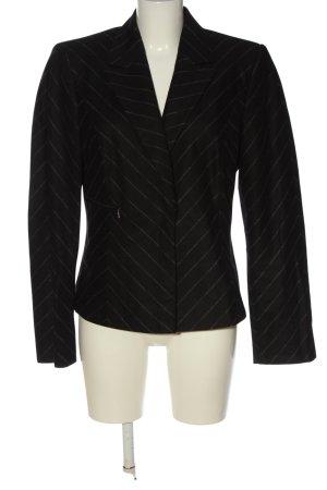 MARCCAIN Woll-Blazer schwarz-weiß Streifenmuster Business-Look