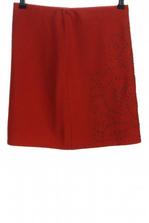 MARCCAIN Falda de lana rojo look casual