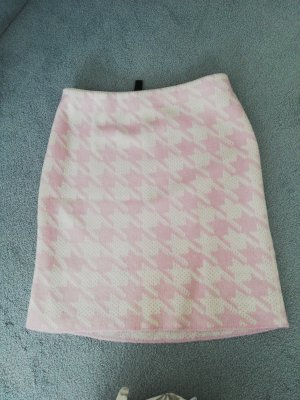 Marc Cain Knitted Skirt natural white-pink wool (merino wool)