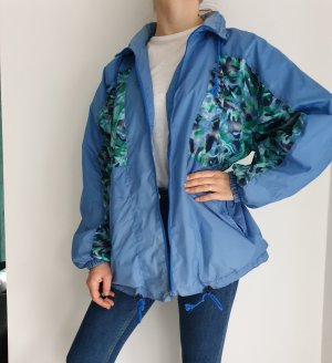 Marcel Clair M blau grün True Vintage Pulli Pullover Jacke Trainigsjacke Hoodie Sweater Oversize