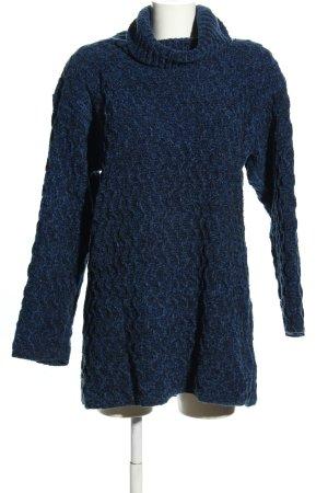 Marcel Clair Rollkragenpullover blau Casual-Look