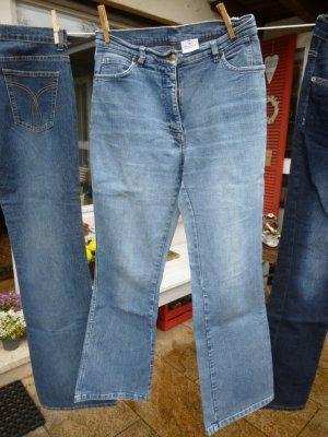 claire High Waist Jeans neon blue