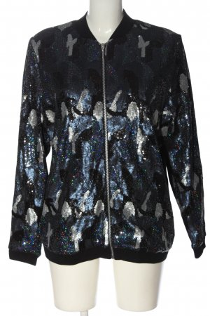 Marcel Ostertag Bomber Jacket abstract pattern casual look