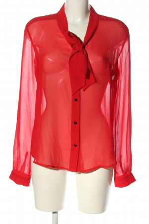 Marcel Ostertag Fashion Hero for S.Oliver Transparenz-Bluse rot Casual-Look
