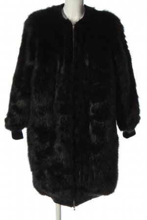 Marcel Ostertag Fake Fur Coat black casual look
