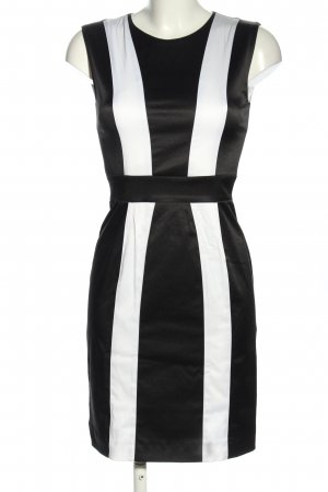 Marcel Ostertag Sheath Dress black-white striped pattern business style