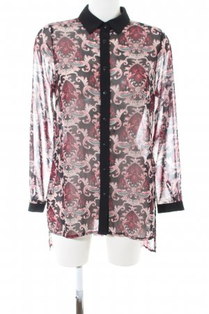 Marcel Ostertag Long Blouse abstract pattern casual look