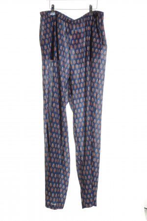 Marcel Ostertag Pallazzohose Allover-Druck Casual-Look