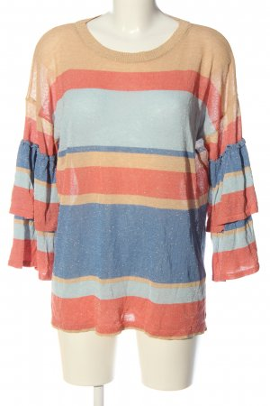 Marcel Ostertag Fine Knit Jumper striped pattern casual look