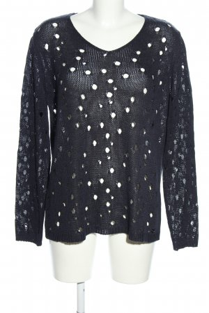 Marcel Ostertag Knitted Sweater black street-fashion look