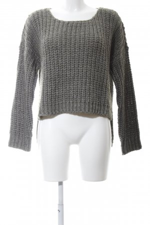 Marcel Ostertag Strickpullover hellgrau meliert Casual-Look