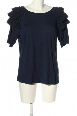 Marcel Ostertag T-Shirt blau Casual-Look