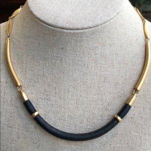 Marcell Collar Halskette von Stella & Dot mit echtem Leder