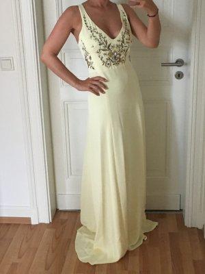Marchesa Evening Dress pale yellow mixture fibre