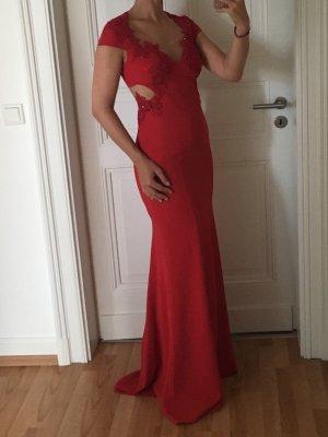 Marchesa Evening Dress dark red mixture fibre