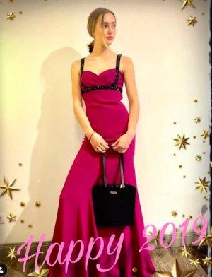 Marchesa Evening Dress violet silk