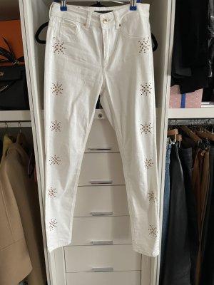 Marciano Pantalón de campana blanco