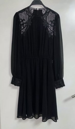 Marciano Guess Spitzenkleid Kleid Knielang 38 M Schwarz