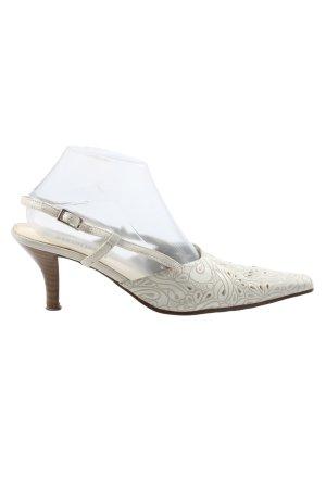 Marco Donati Zapatos de punta blanco puro Mezcla de patrones look casual