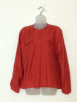 Marco Pecci Silk Blouse dark red-red silk