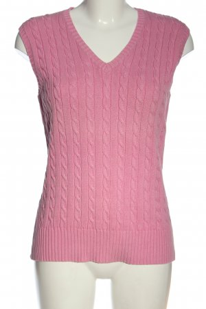 Marco Pecci Fine Knitted Cardigan pink cable stitch casual look