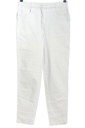 Marco Pecci Five-Pocket-Hose weiß Casual-Look