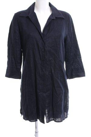 Marco Pecci Hemd-Bluse blau Casual-Look