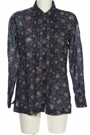 Marco Pecci Hemd-Bluse Allover-Druck Casual-Look