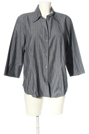 Marco Pecci Camicia blusa grigio chiaro-bianco puntinato stile casual