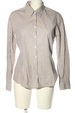 Marco Pecci Camicia blusa bianco-marrone stampa integrale stile casual