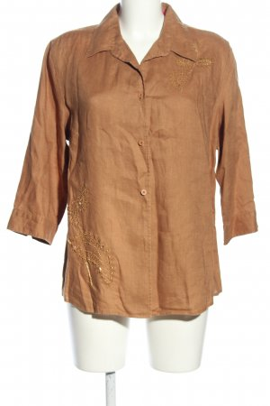 Marco Pecci Hemd-Bluse nude Casual-Look