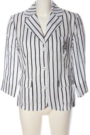 Marco Pecci Camicia blusa bianco-nero motivo a righe stile casual