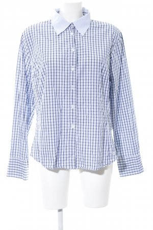 Marco Pecci Checked Blouse blue-white check pattern business style