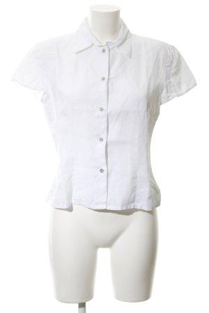 Marco Pecci Kurzarm-Bluse weiß Elegant