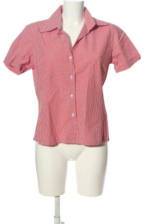 Marco Pecci Kurzarmhemd pink-weiß Allover-Druck Business-Look
